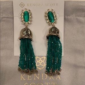 Kendra Scott emerald illusion earrings.